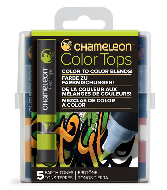 Chameleon 5-Color Tops Earth Tones Set