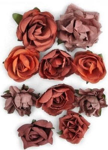 F636 -Kaisercraft Paper Blooms - Ruby