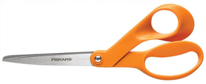 "Fiskars 8"" Orange Handle Offset Scissors"
