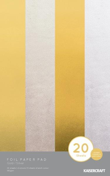 FC220 : Foil Paper Pad - GOLD/SILVER 20 sheets