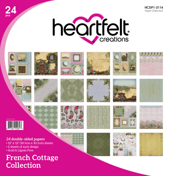 Heartfelt Creations : HCDP1-2114 - French Cottage Paper Collection