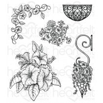 hcpc-3787 -   HCPC-3787 - Classic Petunia Bouquet Cling Stamp Set
