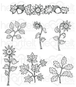 HCPC-3799 - Sunflower Accents Cling Stamp Set