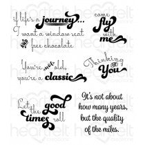 HCPC-3802 - Heartfelt Creations : Good Times Sentiments Cling Stamp Set