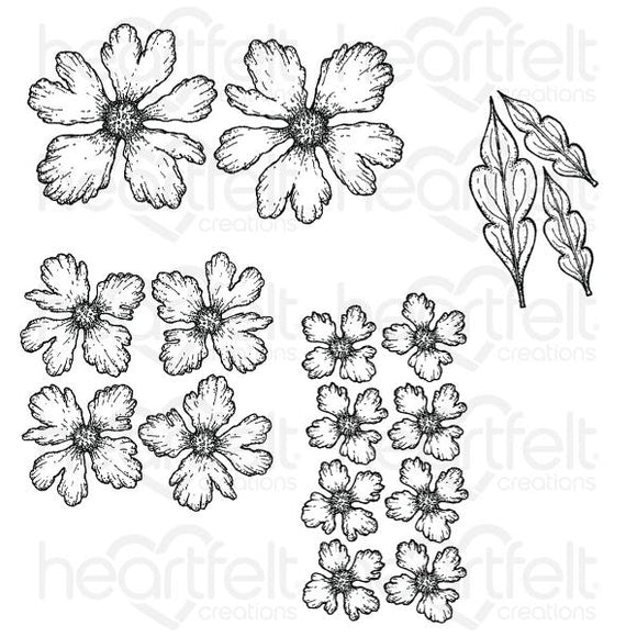 HCPC-3819-Sweet Peony :Small Sweet Peony Cling Stamp Set
