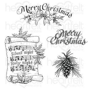 HCPC-3833 - Silent Night Scroll Cling Stamp Set