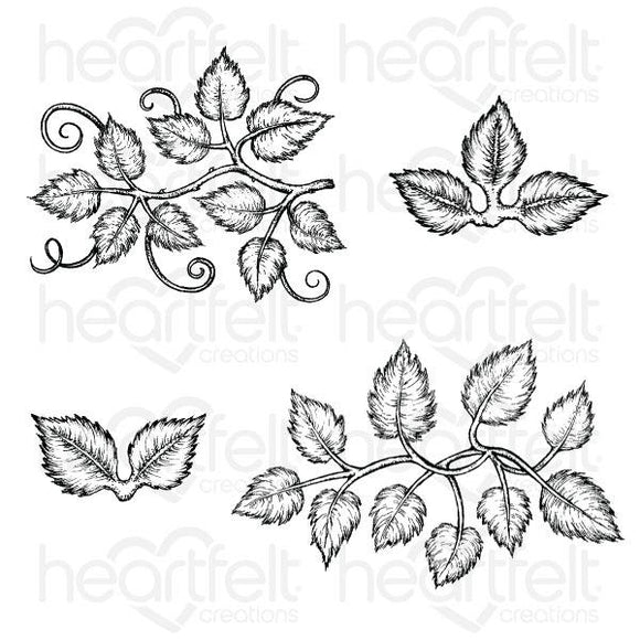 HCPC-3835 - Leafy Accents Cling Stamp Set