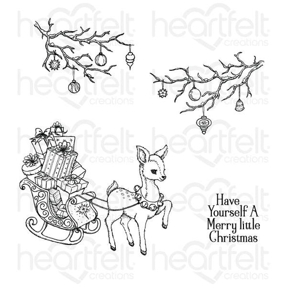 HCPC-3836 - Merry Little Christmas Cling Stamp Set
