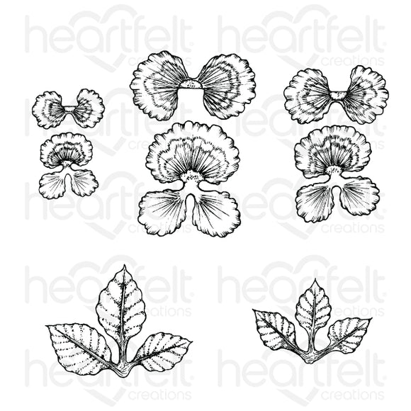 HCPC-3862. - Cheery Pansy Cling Stamp Set
