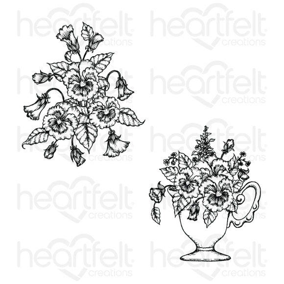 HCPC-3863. - Burst of Spring Cling Stamp Set