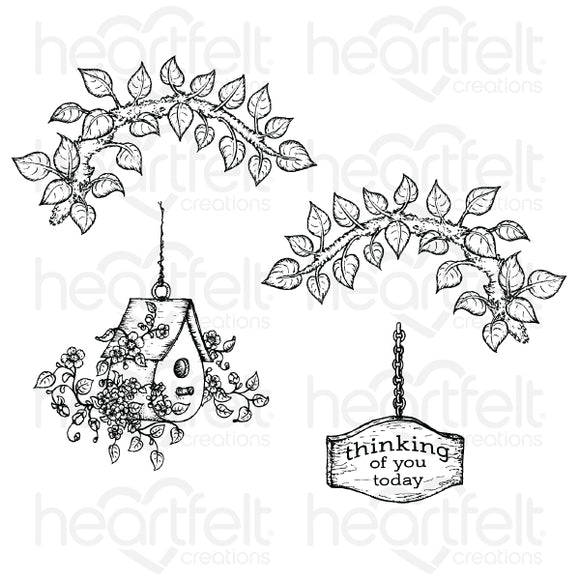 HCPC-3867 - Cherry Blossom Retreat Cling Stamp Set