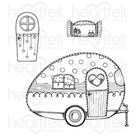 Heartfelt : HCPC-3878 - Happy Camper Cling Stamp Set