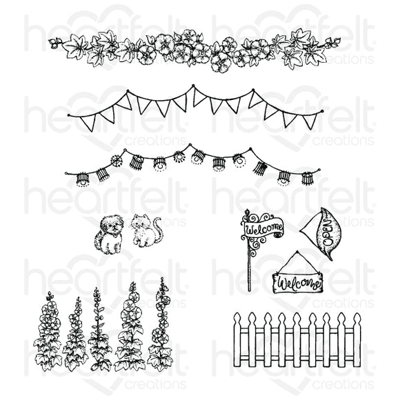 Heartfelt : HCPC-3880 - Elements of Home Cling Stamp Set
