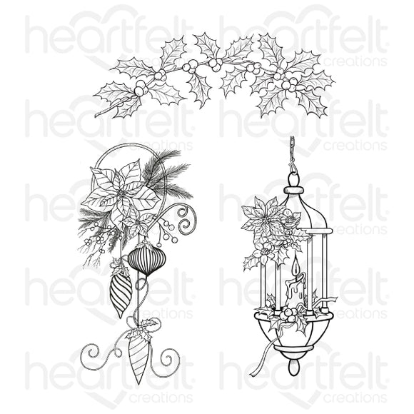 Heartfelt :HCPC-3883 - Glow of Christmas Cling Stamp Set