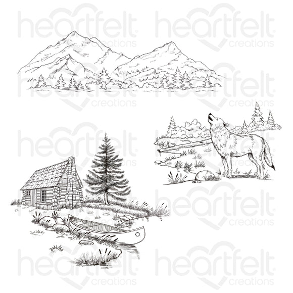 HCPC-3893 - Create a 'scape Backcountry Cling Stamp Set