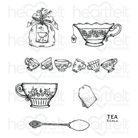 HCPC-3904 : My Cup of Tea Cling Stamp Set