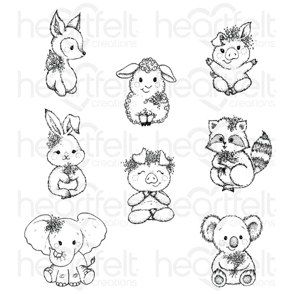 HCPC-3916 - Baby's Friends Cling Stamp Set