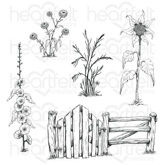 HCPC-3927 : Barnyard Accents Cling Stamp Set (Home on the Farm)