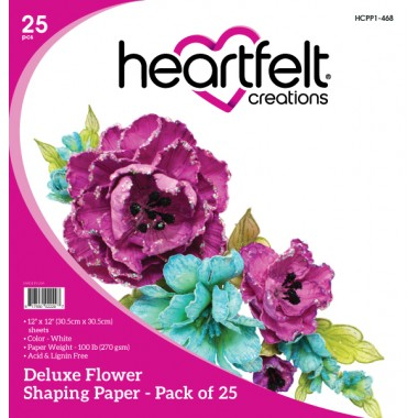 HCPP1-468 - Deluxe Flower Shaping Paper Pack of 25 - White