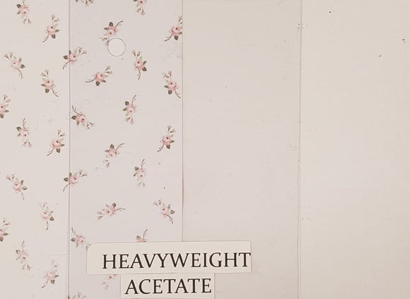 A4 - Heavyweight Acetate 25 Bulk Pack