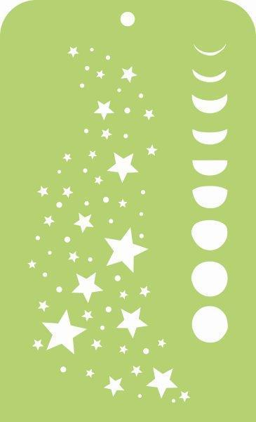 IT032 - Kaisercraft : Mini Designer Templates - Stars & Moon