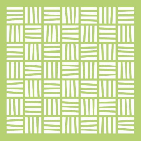 IT463 :  Kaisercraft   : 6x6 Designer Template - Weave