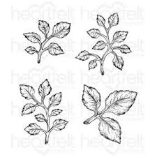 hcpc-3546 - Classic Leaf Cling Stamp Set