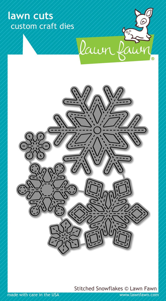 Lawn Fawn LF stitched snowflakes