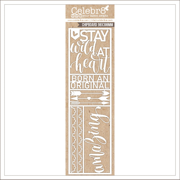 MB3641 : Amazing Chipboard (Celebr8 - You Are Amazing)