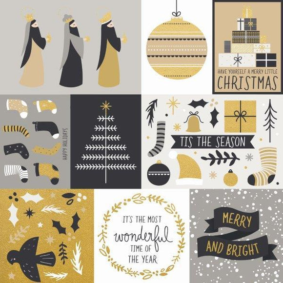 P2621 - First Noel 12x12 Scrapbook Paper - Starry