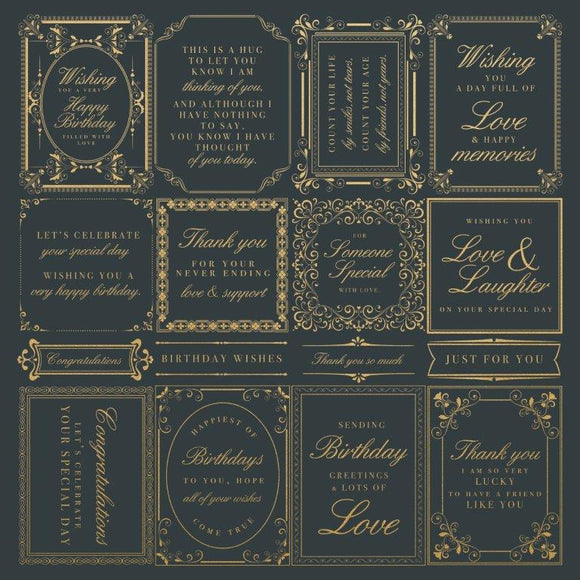 P2755 : With Love 12x12 Scrapbook Paper - Just Because
