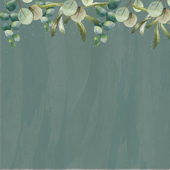 Kaisercraft : P2860 - Native Breeze 12x12 Scrapbook Paper - Eucalyptus