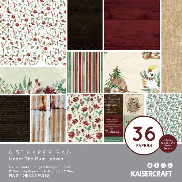 Kaisercraft : PP1077. - Under the gum Leaves 6.5 Paper Pad
