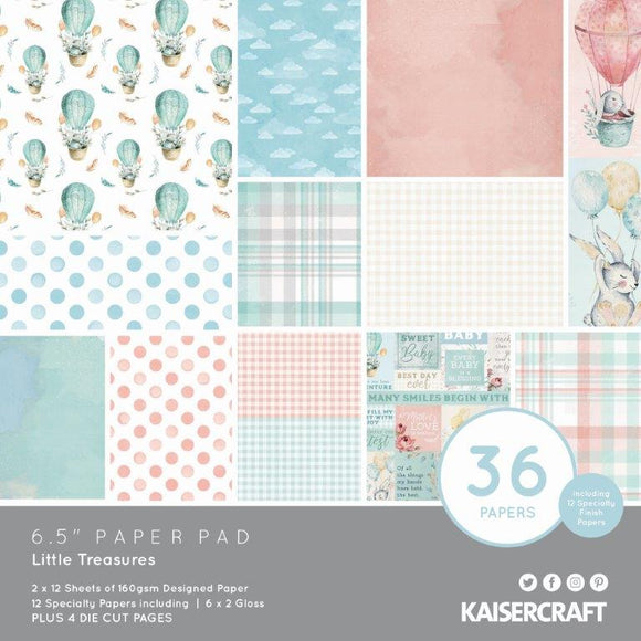 PP1088 Kaisercraft - Little Treasures 6.5 Paper Pad