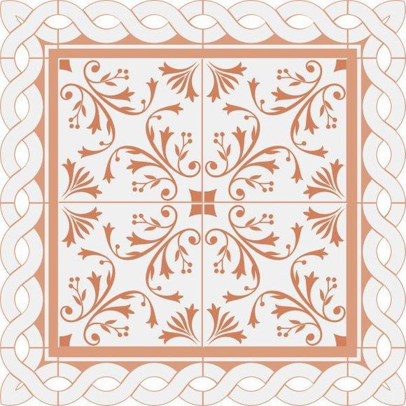 PS541 - Peachy 12x12 Die Cut - Ceramic