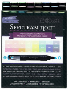 Spectrum Noir Alcohol  Markers - 24pc  Pastels