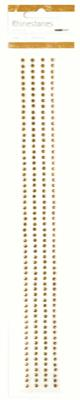 RS448 - Rhinestone Strips  - Antique Gold