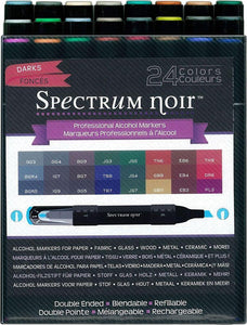 Spectrum Noir Alcohol  Markers - 24pc  Darks