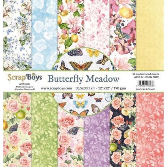 ScrapBoys - 12 x12 Paper Pack - Butterfly Meadow