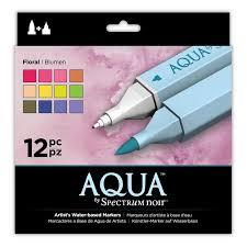 AQUA By Spectrum Noir (12PC) - Floral