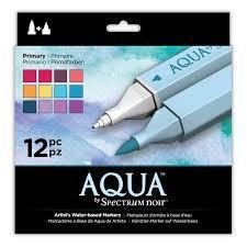 Spectrum Noir Aqua Markers (12PC) - Primary  ( NEW Package )