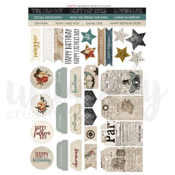 Cut-A-Part Sheet - Steampunk Safari (Uniquely Creative)