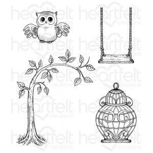 hcpc-3714 - Sugar Hollow Hangout Cling Stamp Set