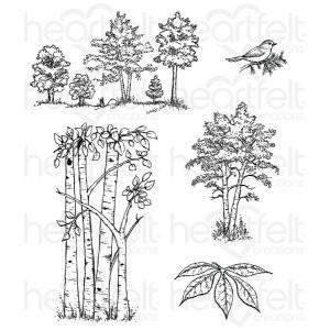 hcpc-3766 - Woodsy Treescape Cling Stamp Set