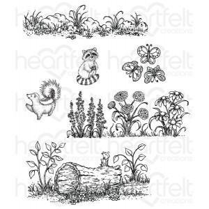 hcpc-3767 - Woodsy Wonderland Cling Stamp Set