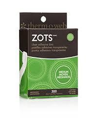Zots Glue Dots - Medium Clear (300)