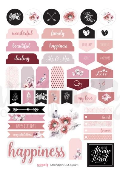 Cut Apart Sheet - Serendipity (Uniquely Creative)