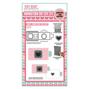 Uchi's Design Animation Die Cuts/ Clear Stamp Combo - DC103 Animation Envelope