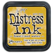 Ranger Distress Ink- Fossilized Amber Mini