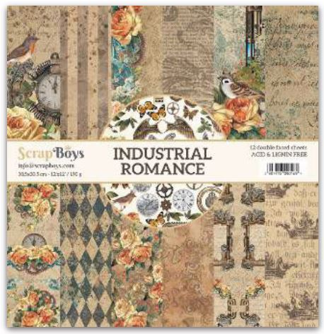 ScrapBoys - INRO-08 12 x12 Paper Pack (Industrial Romance)